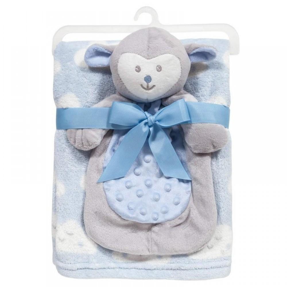 Cobertor com Naninha de Ovelhinha Azul Buba REF: 7831