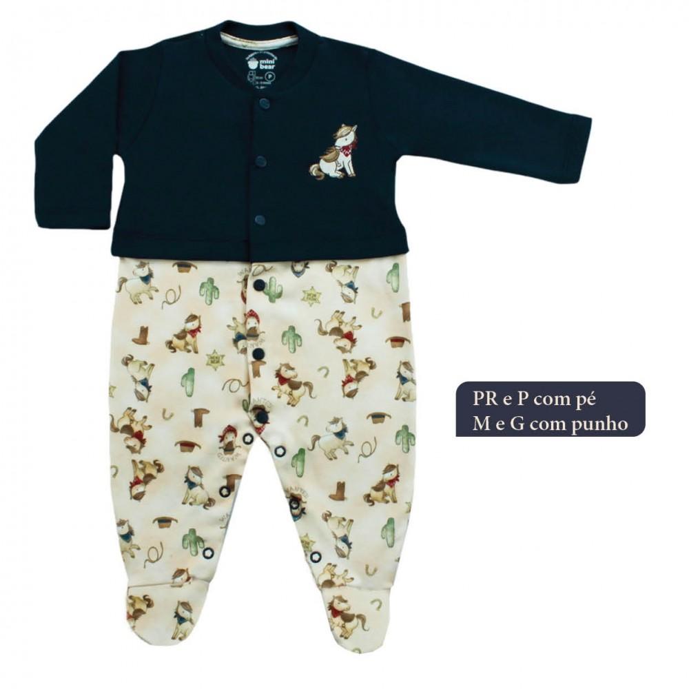 Macacão Cavalinho  Suedine Egípcio  Mini Bear  REF: 419139