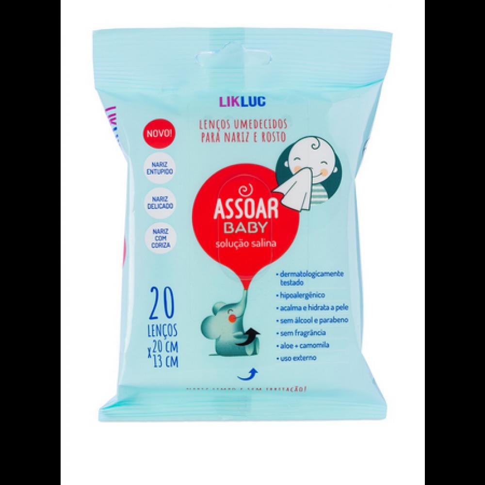 Lenços Umedecidos com Solução Salina Assoar Baby LikLuc
