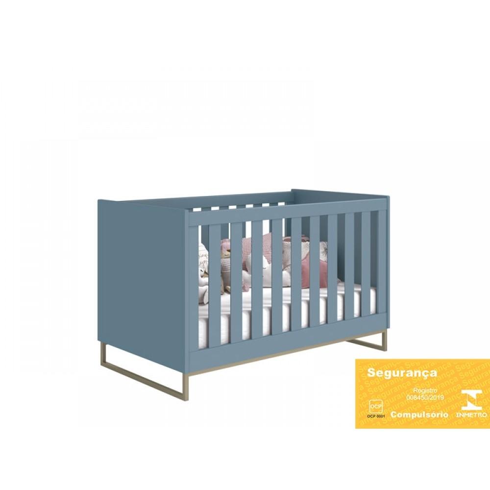 Berço Noah Ind Metálico Azul Fosco Reller REF: 21245/40069