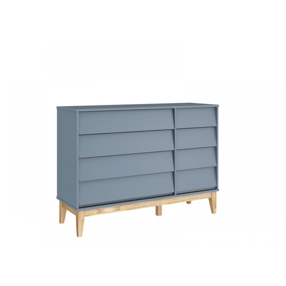 Cômoda Noah Classic Sapateira Azul Fosco Base REF: 21034/40093