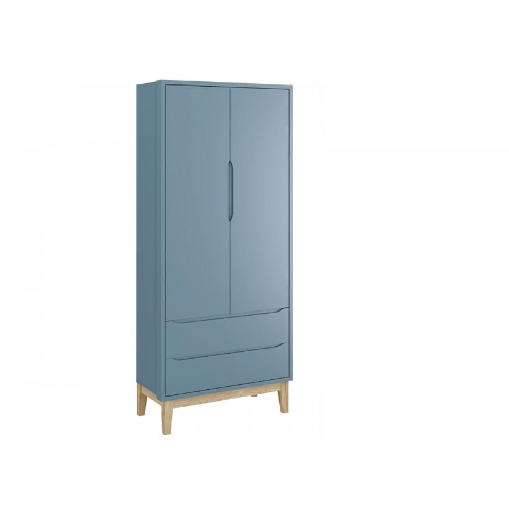 Roupeiro Classic 2 Portas Base Azul Fosco Reller REF: 21462/40221