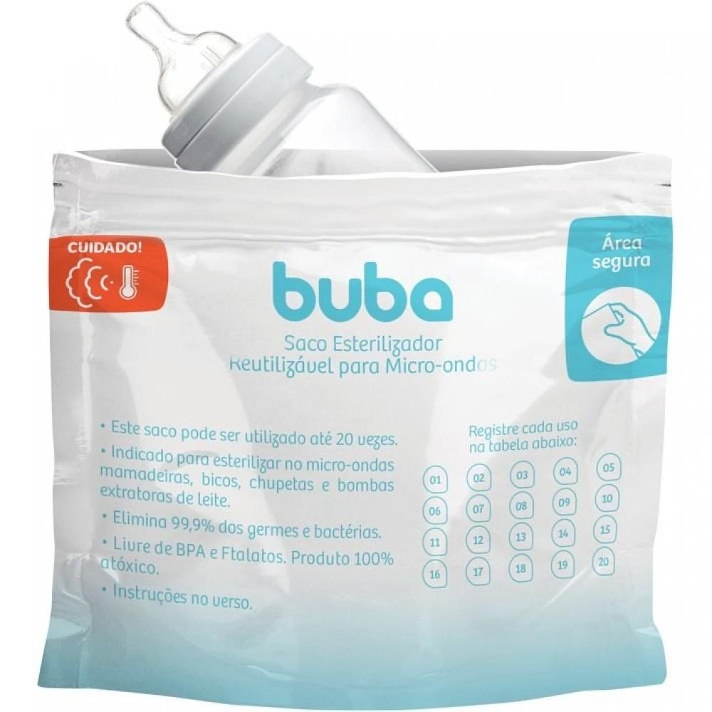 Saco para Esterilizar Reutilizável para Micro-ondas 6 unidades Buba REF: 9814