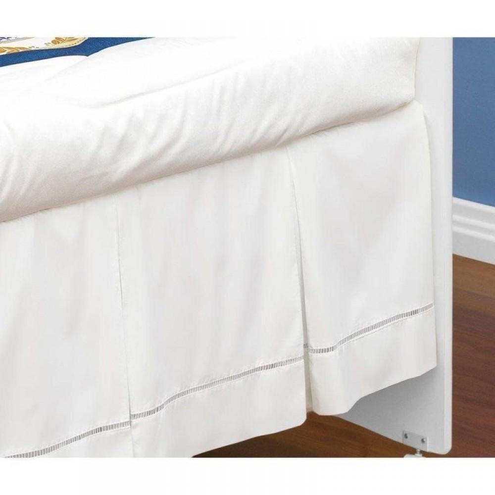 Saia De Berço Ponto Palito Branca Batistela REF: D038