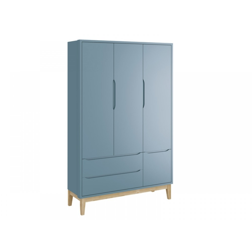 Roupeiro Classic Base 3 Portas Azul Fosco Reller REF: 21452/40241