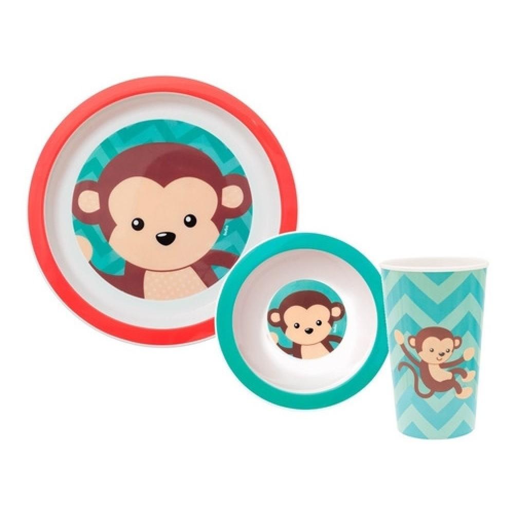 Kit Refeição  Animal Fun  Macaco Buba REF: 10735