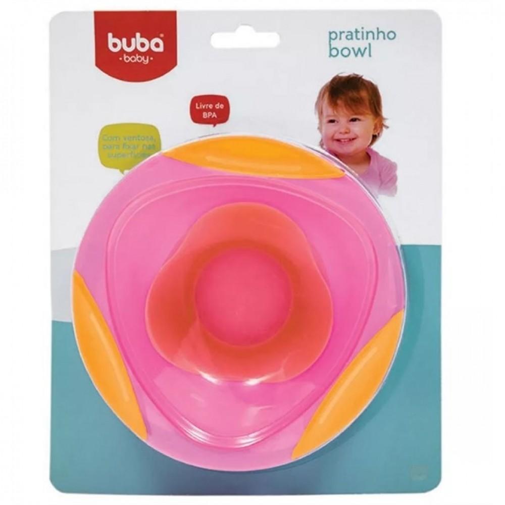 Pratinho Bowl com Ventosa Rosa- Buba Ref: 5808