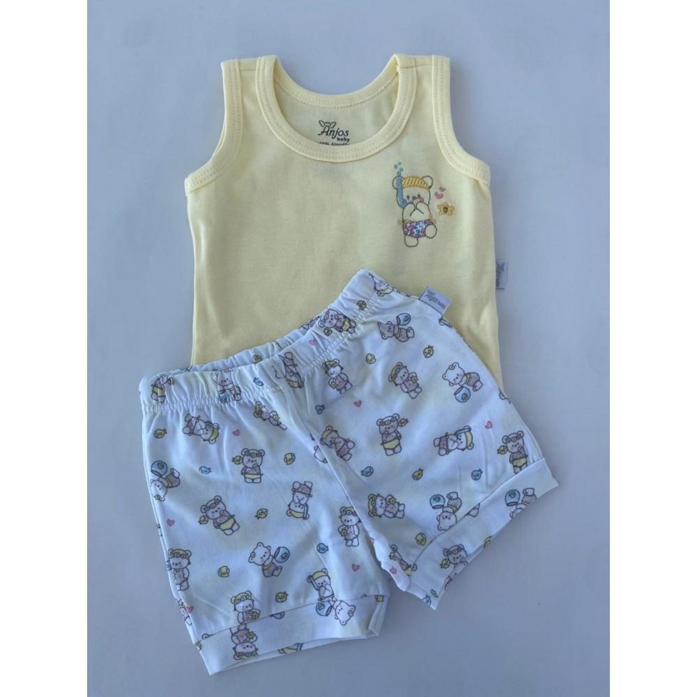 Conjunto Regata e Short Anjos Baby REF: 20752